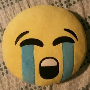 Crying emoji pillow